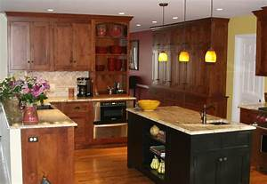 Cherry And Black Kitchen Cabinets — All Home Design Ideas