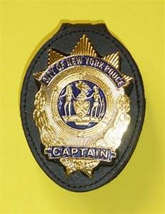 NYPD CAPTAIN BADGEHOLDER CLIP ON - POLICE BADGE.EU - fire