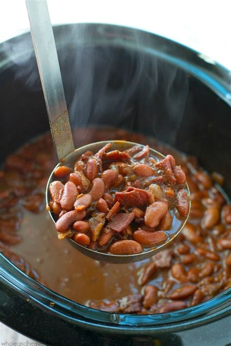ultimate crockpot bbq baked beans recipe spicy and baked beans