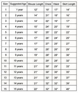 Pin On Size Chart