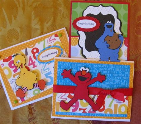 sesame street cricut birthday cards kid monsters