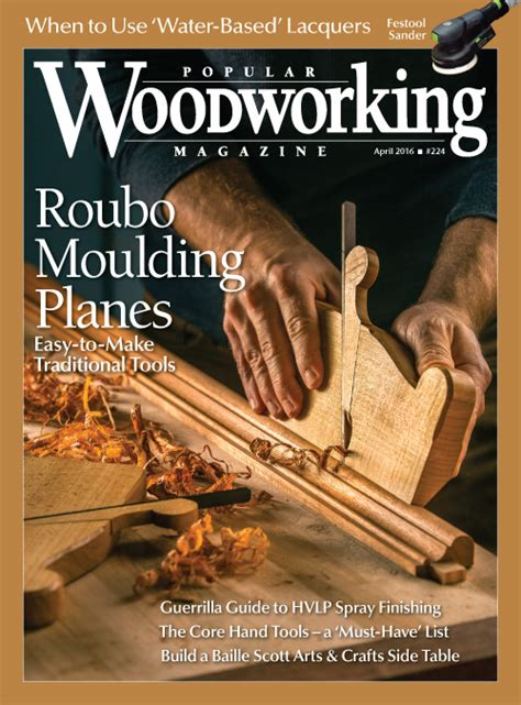 popular woodworking magazine april  digital edition