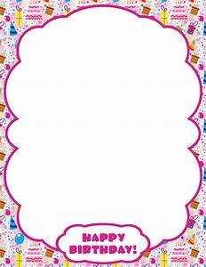 Printable Happy Birthday border. Use the border in ...