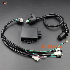 Complete Wire Wiring Harness Loom Ignition Coil 8 Pin Cdi