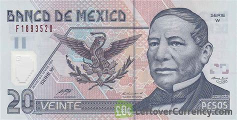 20 Mexican Pesos Polymer Banknote (series D)