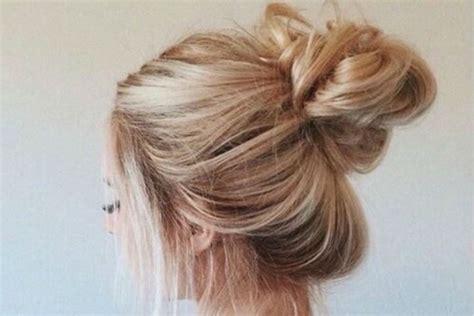 messy bun  long hair