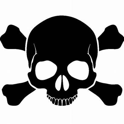 Skull Crossbones Danger Totenkopf Clip Signalisation Sticker