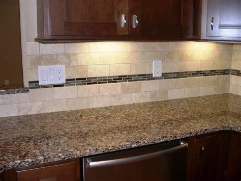 Travertine Subway Tile Backsplash Home Design Mosaic
