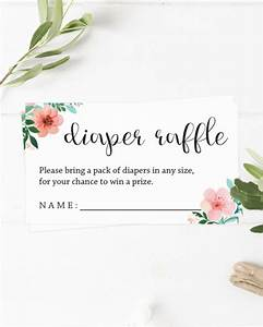Free Printable Address Book Template Floral Diaper Raffle Ticket Template For Gender Neutral