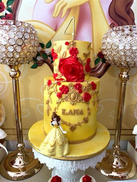 karas party ideas princess belle beauty  beast