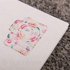 Schachtel Für Fotos : hochwertige fotomappe a4 f r fotos bis zu 30 cm x 20 cm watercolor camera foto deko ~ Orissabook.com Haus und Dekorationen