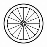 Wheel Coloring Bicycle Clipart Ruota Colorare Fahrradfelge Cykelhjul Ausmalen Zum Bicicletta Libro Fahrrad Faerglaeggningbok Malbuch Illustrations Illustrationer Vector Bici Vektorer sketch template