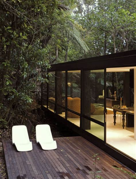 glass forest house black forest house in the of titirangi new zealand Glass Forest House