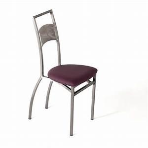 Chaise blanche de cuisine chaise de cuisine noir table for Deco cuisine avec chaise de salle a manger en cuir noir