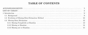Apa style table customized table of contents apa style for Apa style latex template