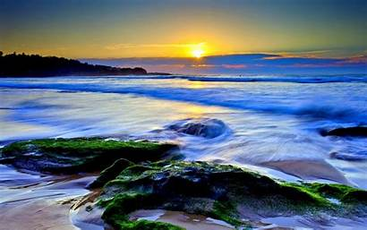 Ocean Sunset Definition Widescreen Sea Beach Wallpapers
