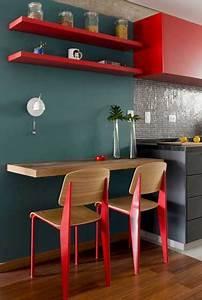 Rouge Brique Avec Quelle Couleur : quelle couleur mettre avec une cuisine grise cuisine rouge et grise apartment deck ~ Melissatoandfro.com Idées de Décoration