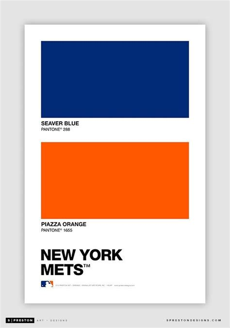 new york mets colors pantone color swatch baseball