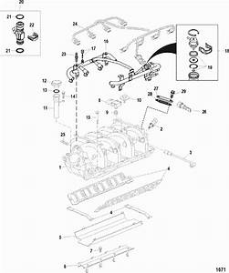 1986 14hp Mercruiser Boat Engine Diagram