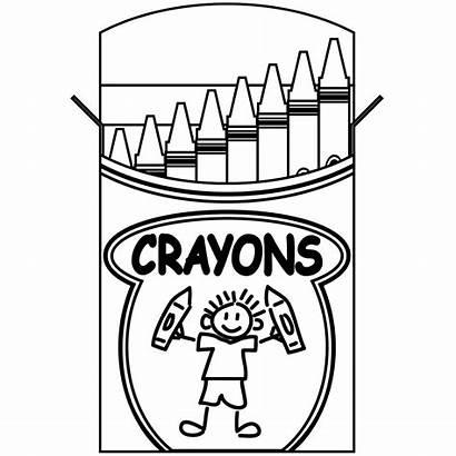 Box Coloring Crayons Crayola Crayon Pages Clipartpanda