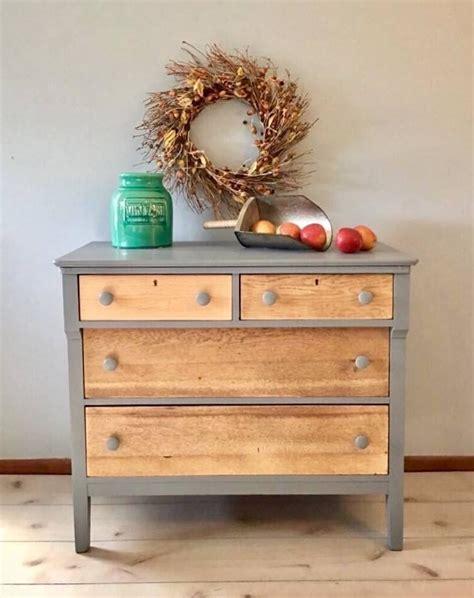 Custom Mix of Driftwood & Seagull Gray Milk Paint Dresser