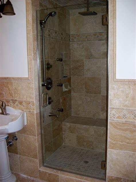 inspired frameless shower door in bathroom traditional