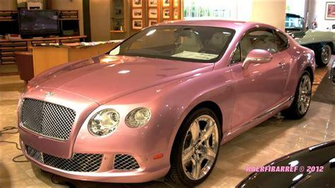 2012 Factory Pink Bentley And Rare Red Lamborghini