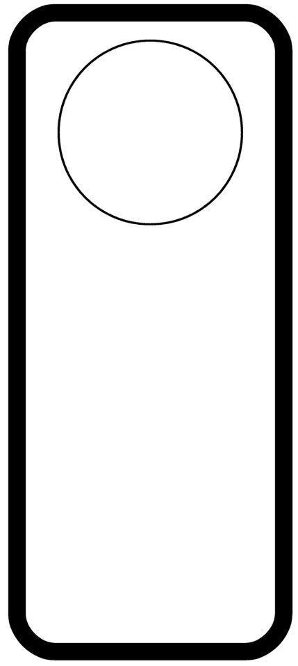 door hanger templates pinterest
