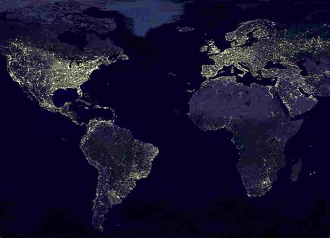 the world of lights nasa world map night page 2 pics about space