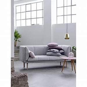 Canapé 3 Places Gris : canap tissu 3 places gris stay bloomingville drawer ~ Teatrodelosmanantiales.com Idées de Décoration