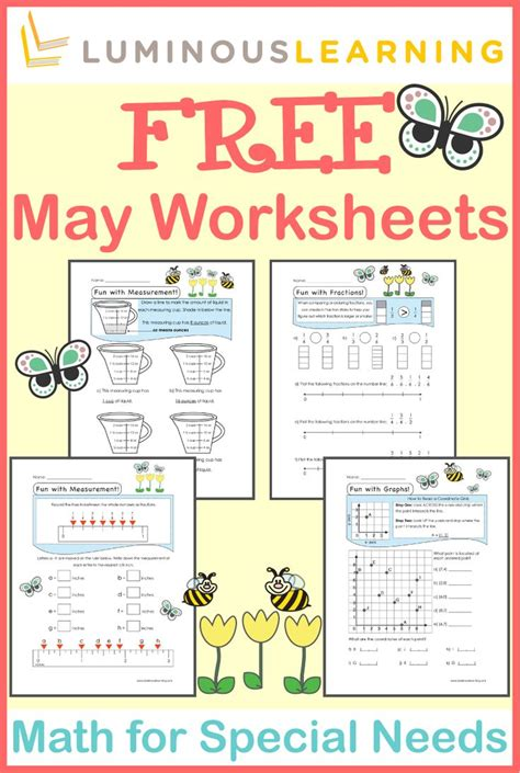 math worksheets for learning disabled students maths worksheets for learning difficulties 1000 images