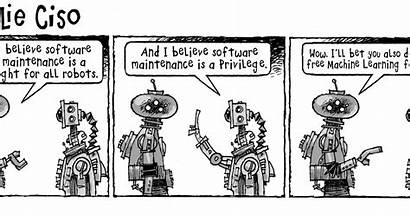 Learning Machine Cyber Cartoon Tag Comic Security