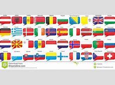 Vlaggen Van Europese Landen Vector Illustratie