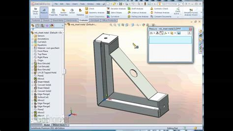 solidworks  measure tool youtube