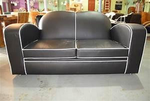 Art deco leather sofa cloud 9 art deco furniture sales for Black leather sectional sofa uk