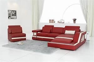 Canape d39angle en cuir italien design et pas cher modele for Tapis design avec canapé et fauteuil en cuir