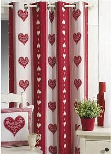 Rideau Rouge Et Blanc : voilage rouge et blanc linder voilage tina blanc galon ~ Dailycaller-alerts.com Idées de Décoration