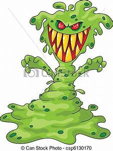 Vector Clipart of scary monster - Illustration of a scary ...