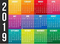 Calendarios 2019, Vectores, 40 Diseños Diferentes $ 79