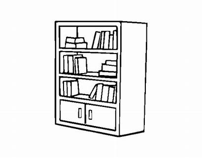 Bookcase Coloring Drawers Coloringcrew