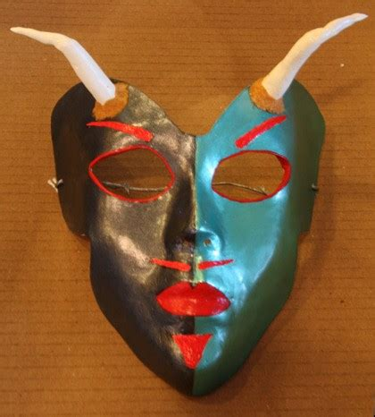 surface smoothing technique  paper mache masks guest