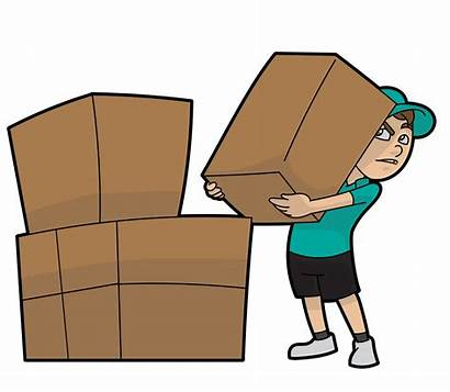 Cartoon Lifting Delivery Boxes Courier Svg Shipment
