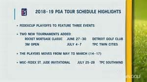 pga  schedule   calendar printable