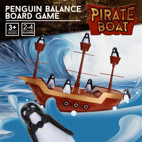 Pirate Boat Balancing Game by Penguin Pirate Boat Ship Balance Board Game Educational