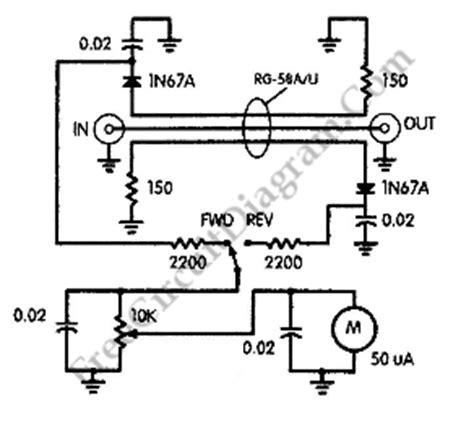 simple swr meter bridge circuit 1n67a circuit diagram world