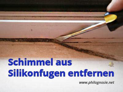 Schimmel Entfernen Fenster Silikon by Schimmel Aus Silikon Silikonfugen Am Fenster Entfernen