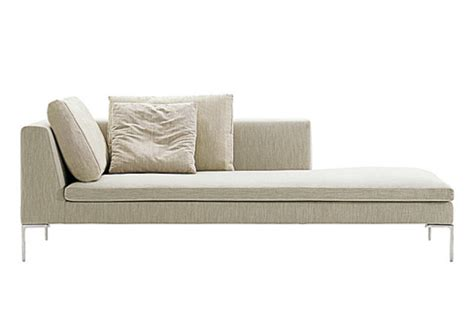 chaise longue en cuir design charles chaise longue by b b italia stylepark