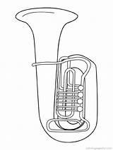Coloring Instruments Musical Muziekinstrumenten Kleurplaten Instrument Tuba Kleurplaat Jazz Muziekinstrument Cool Muziek Van Nursery Brass Gifts Zo sketch template
