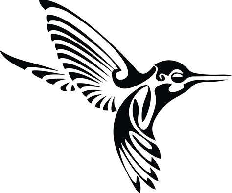 Black clipart hummingbird - Pencil and in color black ...