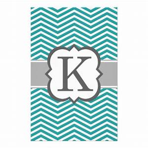 teal white monogram letter k chevron stationery zazzle With chevron letter k